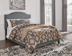 Adelloni 3 Piece Queen Upholstered Bed - B080-181 - Signature Design by Ashley Furniture
