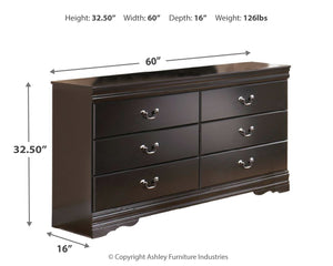 Huey Vineyard - Black - Dresser - B128-31 - Ashley Furniture