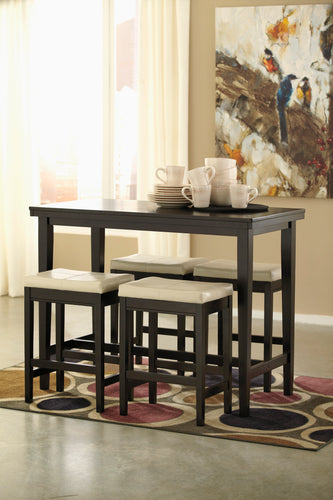 Kimonte - 5 Piece Counter Height Dining Table Set - D250 - Ashley Furniture