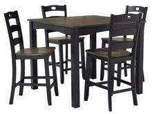 Load image into Gallery viewer, Froshburg - 5 Piece Counter Height Dining Table Set - D338 - Ashley Furniture