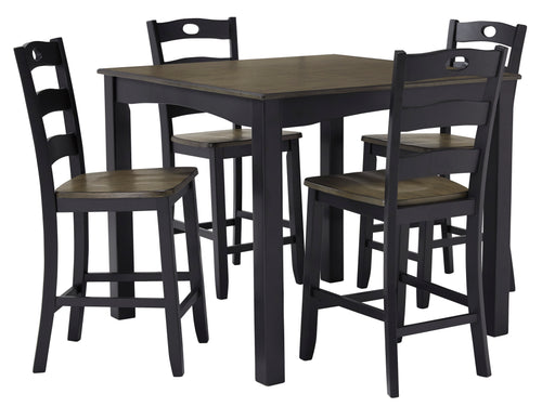 Froshburg - 5 Piece Counter Height Dining Table Set - D338 - Ashley Furniture
