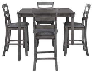 Bridson - 5 Piece Square Counter Height Table Set - D383 - Ashley Furniture