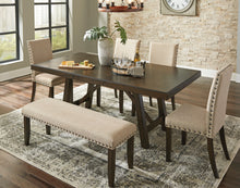 Load image into Gallery viewer, Rokane - 6 Piece Extended Dining Table Set - D397 - Signature Design by Ashley Furniture