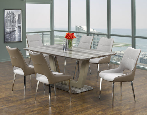 Leonardo - 2 Tone - 7 Piece Dining Set