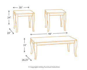 Mattie - Coffee Table Set - T317-13 - Ashley Furniture
