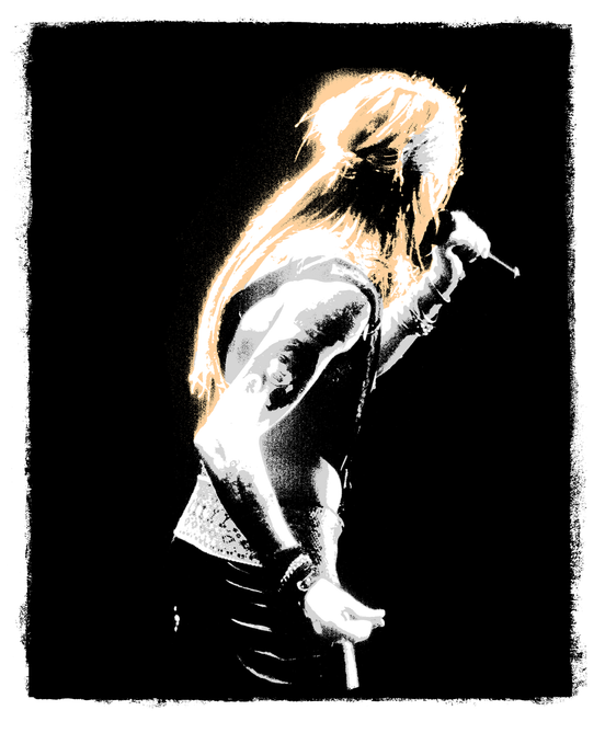 Axl Rose, 1987 - rocksceneart