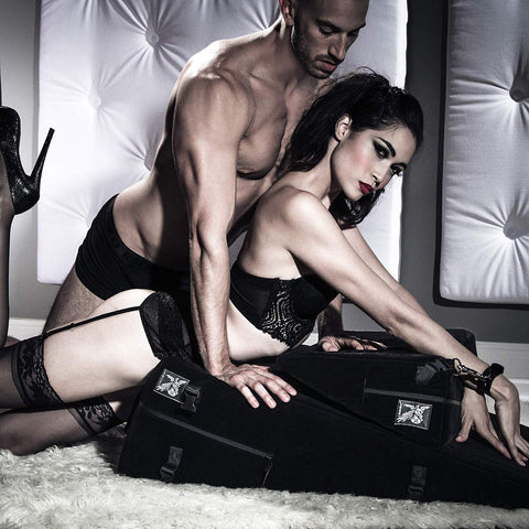 Liberator Black Label Wedge and Ramp Sex Positioning Pillow Combo Built-in Restraint System, Regular