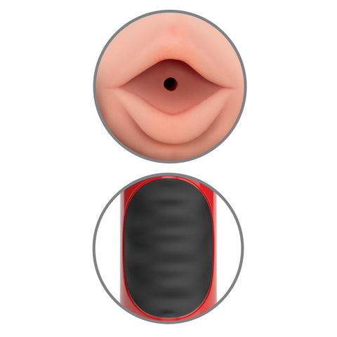 Image of Mega Grip Vibrating Stroker Mouth Red :: Forbidden Pleasures