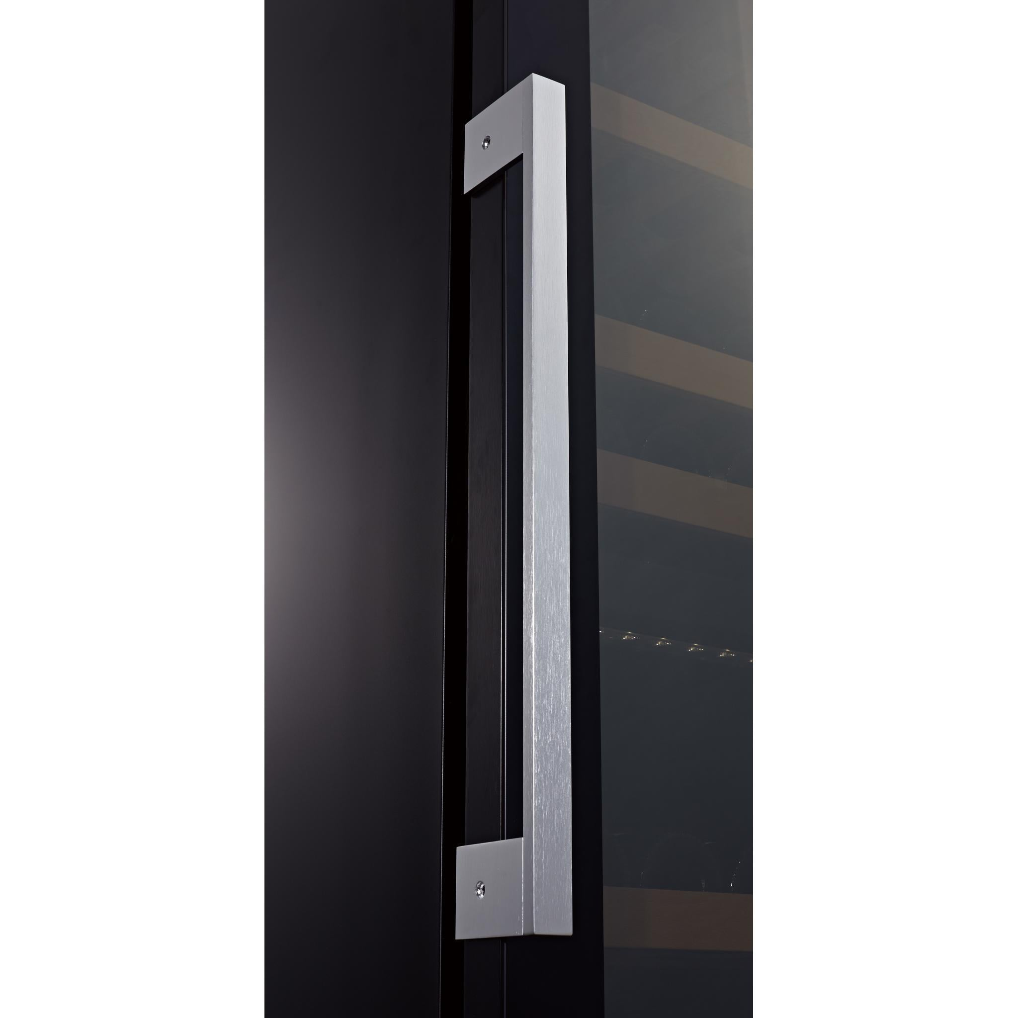 Swisscave WLB-460DFLD - Black Edition Dual Zone Wine Cooler / Wine Fridge with Gastro Furnishing (124-210 BOT) - 595mm Wide