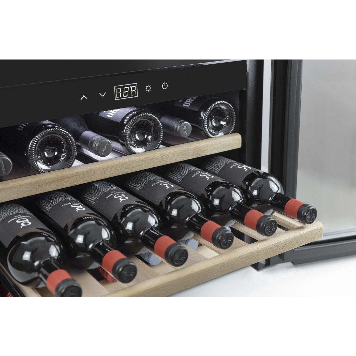 CASO WineSafe 18 EB Inox 629- Integrated Single Zone Wine Cooler / Wine Fridge - 18 bottles - 590mm Wide - winestorageuk