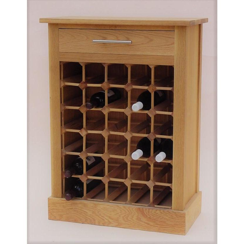 30 Bottle wine cabinet with drawer - winestorageuk