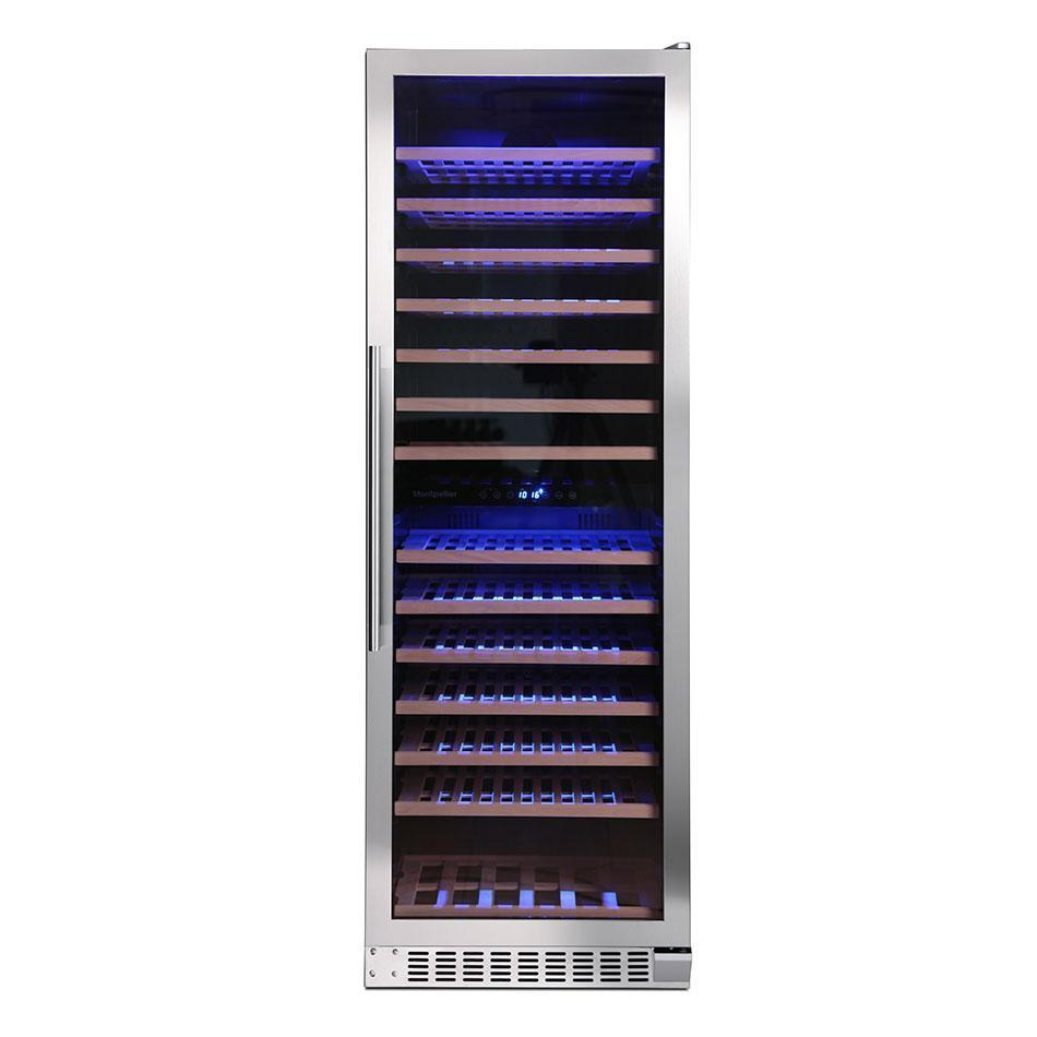 Montpellier -WC166X - 166 Bottle Freestanding Wine Cooler - winestorageuk