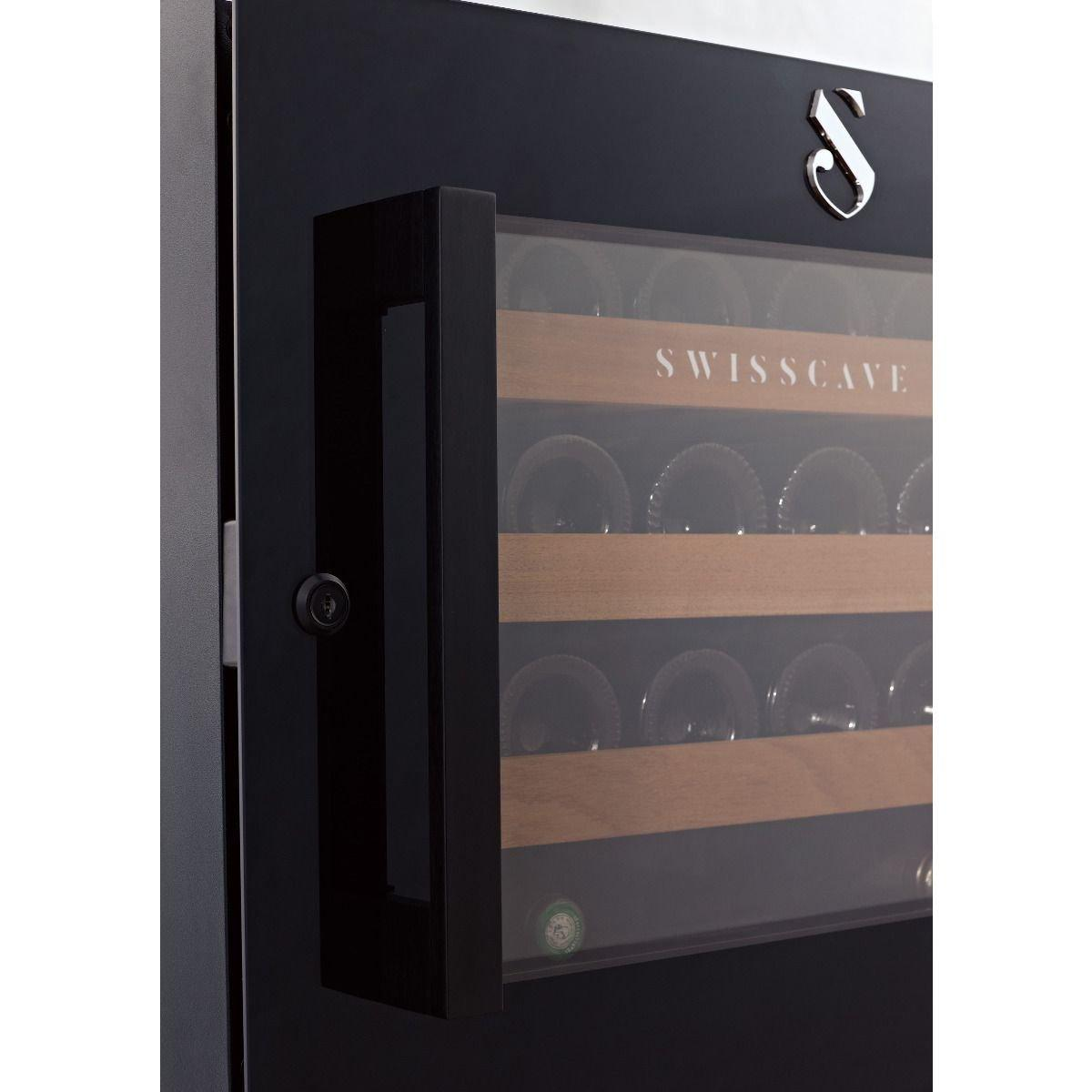 Swisscave -Kitchen Integrated - Single Zone Wine Cooler WLI-160F (48 BOT) - winestorageuk