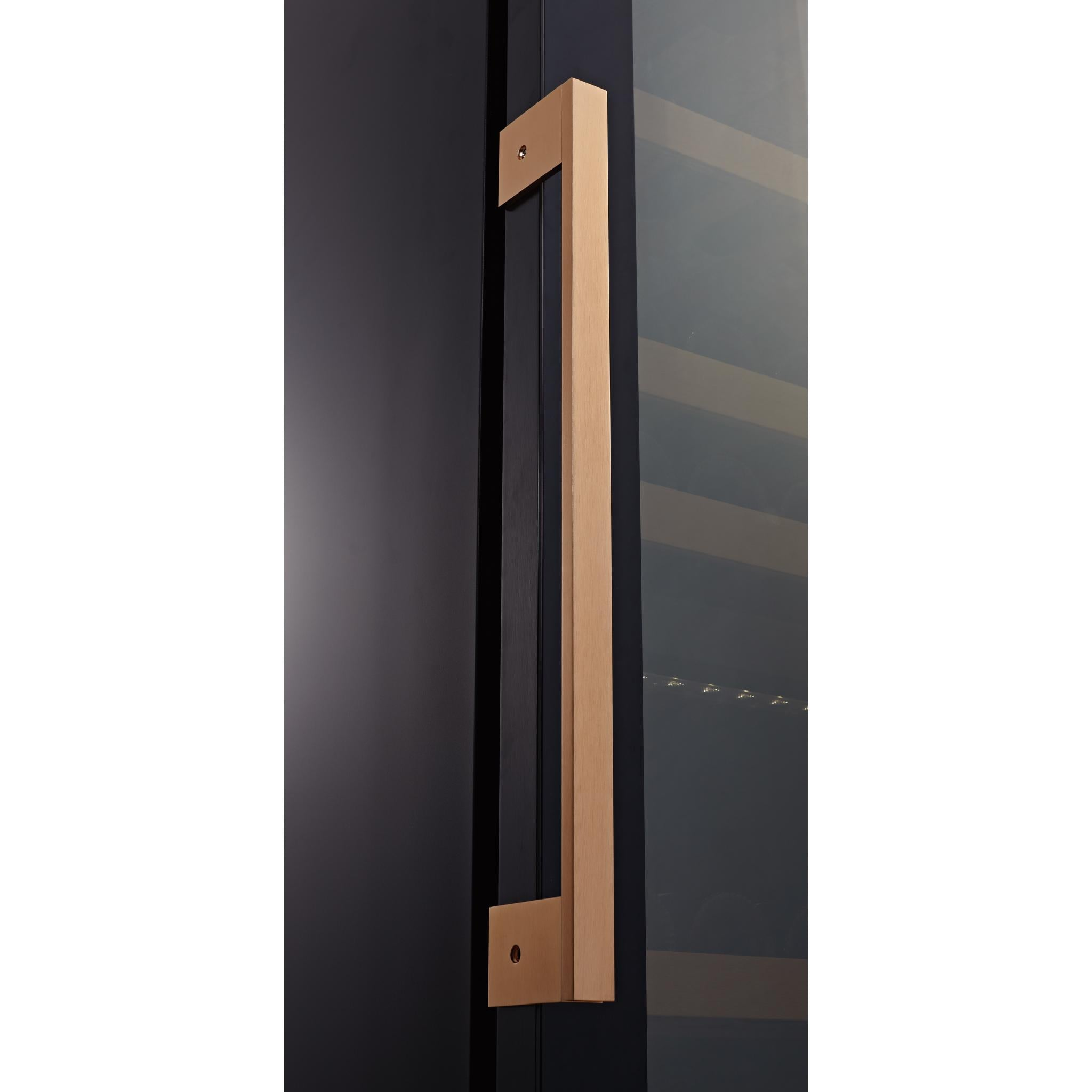 Swisscave - Classic Edition Single Zone Wine Cabinet WL455F (178 - 210 BOT) - Black - winestorageuk