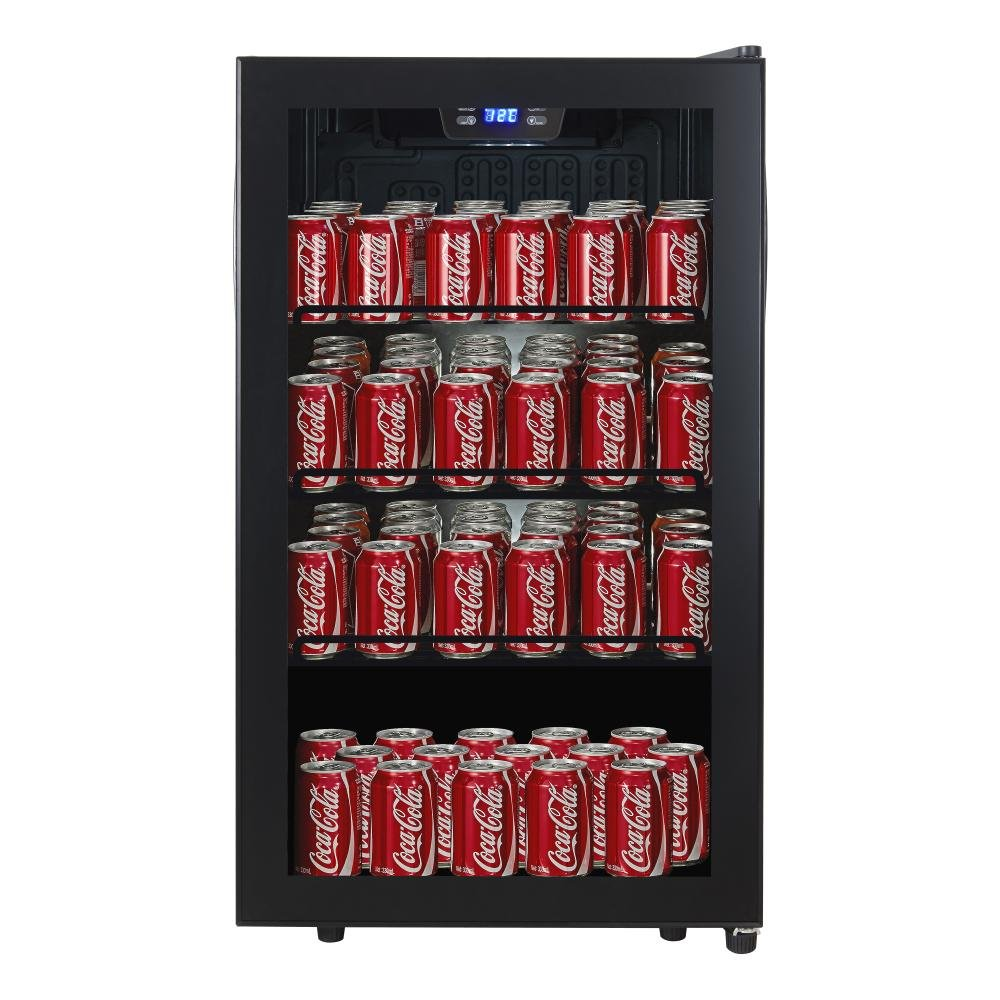 Cavecool Chill Display -  CC34SB-CD -145 cans - Single zone - Black - winestorageuk