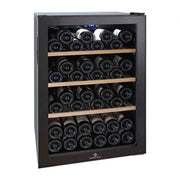 Cavecool Chill Ruby Wine Fridge - 34 bottles - Dual zone Wine cooler - Black - winestorageuk