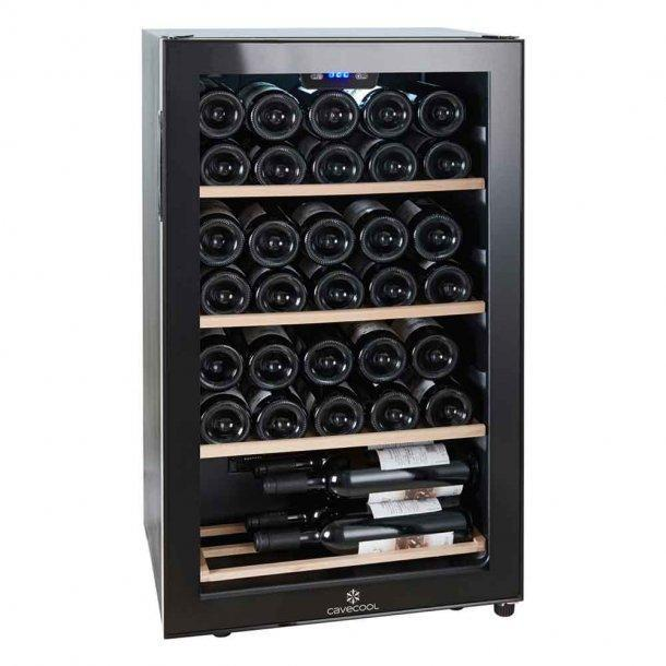 Cavecool Chill Ruby Wine Fridge - 34 bottles - Single zone Wine cooler - Black - winestorageuk