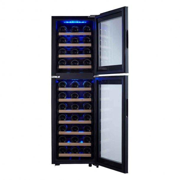 Cavecool Primo Pearl Wine Fridge - 53 bottles - Dual zone wine cooler - Black - winestorageuk