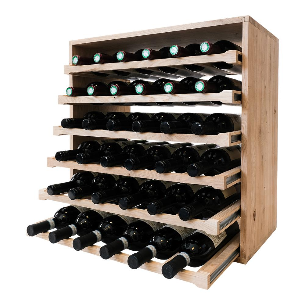 Caverack - LEO - 36 bottle wine rack - Oak - winestorageuk