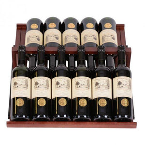 Display shelf in dark lacquered Wood for Pevino P168D - winestorageuk