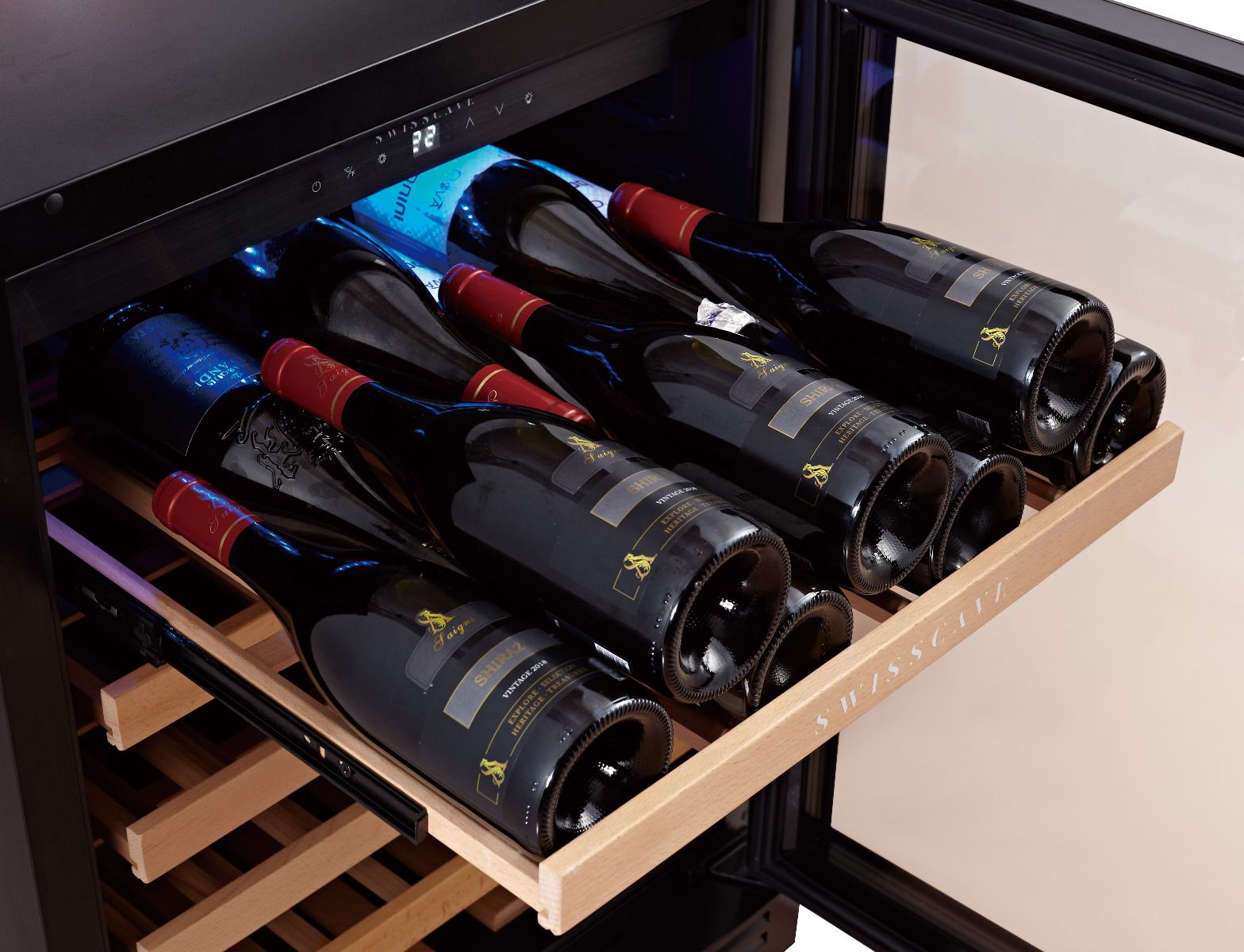 Swisscave - WL155F - Classic Edition Single Zone Wine Cabinet (47-52 bot.) - winestorageuk