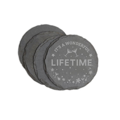 Lifetime It's a Wonderful Lifetime Slate Coasters