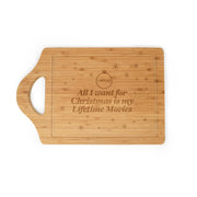 Lifetime All I Want For Christmas is My Lifetime Movies Cutting Board