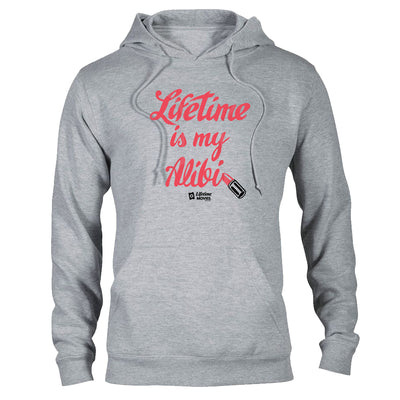 Lifetime Movies Lifetime Is My Alibi Lightweight Hooded Sweatshirt
