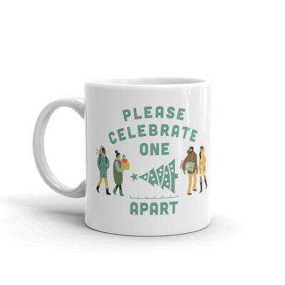 Lifetime Movies Holiday Please Celebrate Apart White Mug