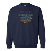 Lifetime Holiday Donuts & Dreidels & Latkes & Lights Fleece Crewneck Sweatshirt