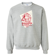 Lifetime Movies Holiday Eggnog & Chill Fleece Crewneck Sweatshirt