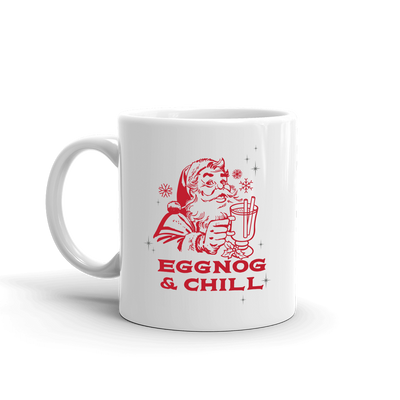 Lifetime Holiday Eggnog & Chill White Mug