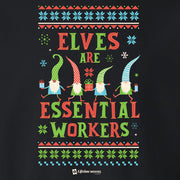 Lifetime Holiday Elves are Essential Workers Fleece Crewneck Sweatshirt