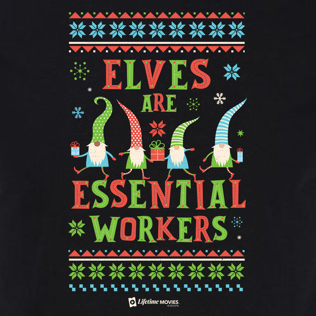 Lifetime Holiday Elves are Essential Workers Adult Short Sleeve T-Shirt
