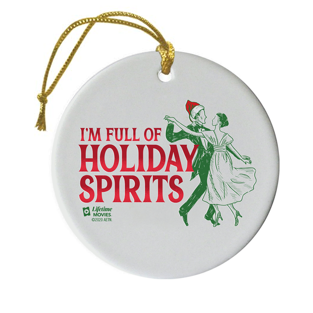 Lifetime Movies Holiday Full of Holiday Spirits Double-Sided Ornament