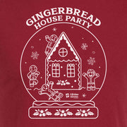Lifetime Movies Holiday Gingerbread House Party Adult Short Sleeve T-Shirt