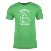 Lifetime Holiday Gingerbread House Party Adult Short Sleeve T-Shirt