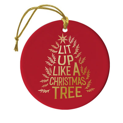 Lifetime Movies Holiday Lit Up Like A Christmas Tree  Double-Sided Ornament