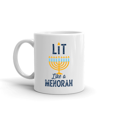 Lifetime Holiday Lit Like a Menorah White Mug