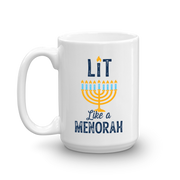 Lifetime Movies Holiday Lit Like a Menorah White Mug