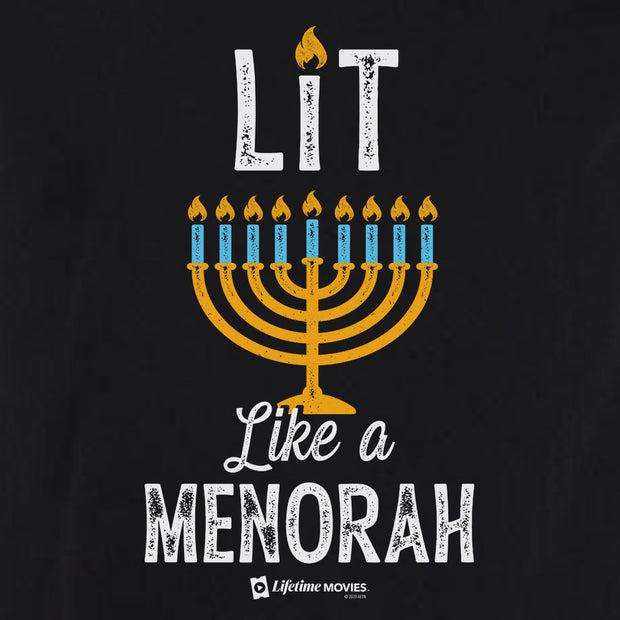 Lifetime Holiday Lit Like a Menorah Adult Short Sleeve T-Shirt