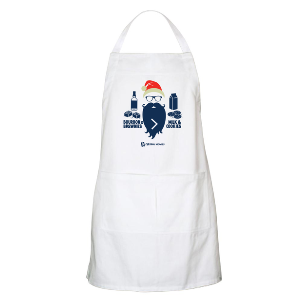 Lifetime Movies Holiday Bourbon & Brownies > Milk & Cookies Apron - With Pockets