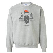 Lifetime Movies Holiday Bourbon & Brownies > Milk & Cookies Fleece Crewneck Sweatshirt