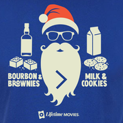 Lifetime Movies Holiday Bourbon & Brownies > Milk & Cookies Adult Short Sleeve T-Shirt