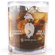 Lifetime Movies Holiday Bourbon & Brownies > Milk & Cookies Laser Engraved Rocks Glass - Set of 2