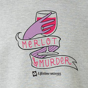 Lifetime Movies Merlot & Murder Adult Short Sleeve T-Shirt