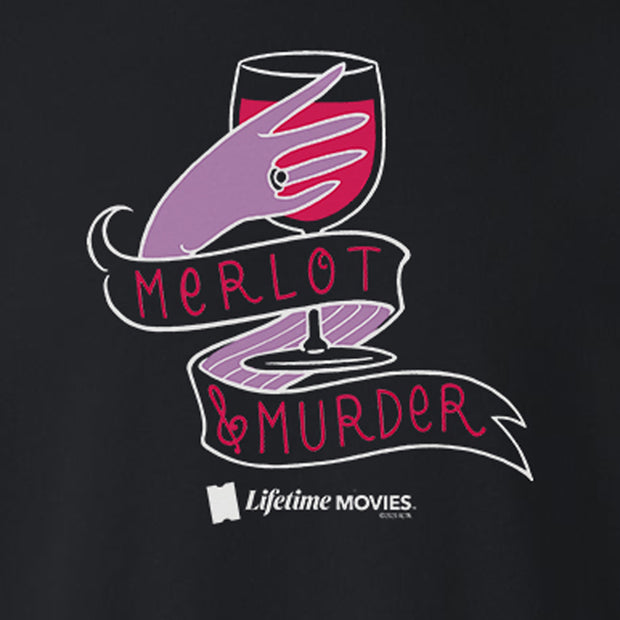 Lifetime Movies Merlot & Murder Fleece Crewneck Sweatshirt