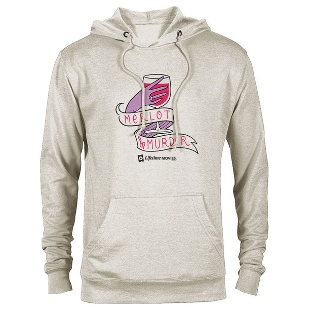 Lifetime Movies Merlot & Murder Lightweight Hooded Sweatshirt