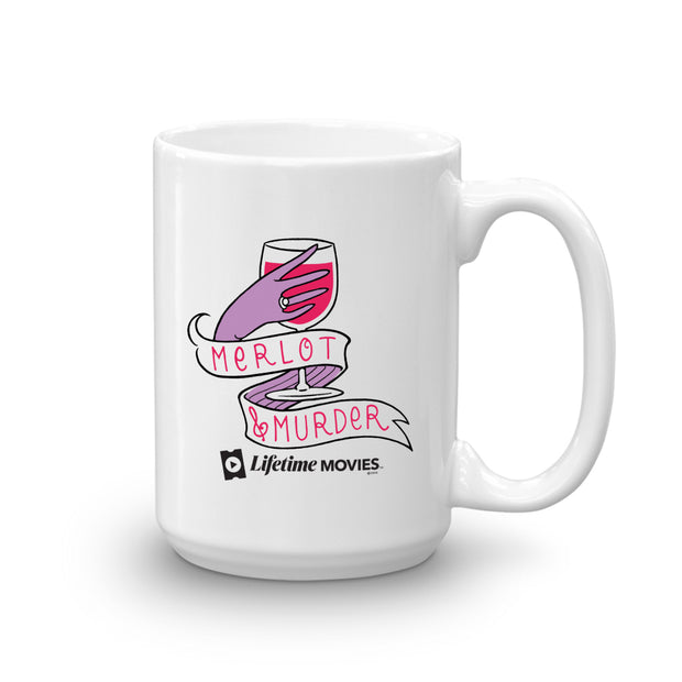 Lifetime Movies Merlot & Murder White Mug