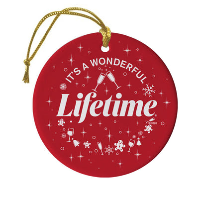 It's a Wonderful Lifetime Ceramic Ornament